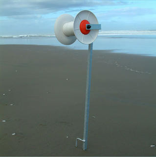 Beach Reel Mega size with Galvanised Reel Post