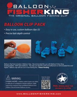Balloon Fisher King Balloon Clip Pack