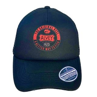 Alvey Traditional Cap Black/Red