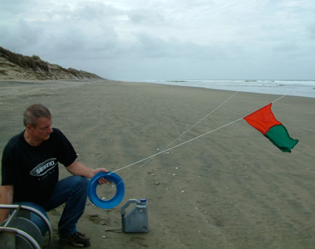Kite Fishing Flag on Light Cord