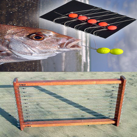Large Trace Rack with Floating Bead Target Snapper Traces