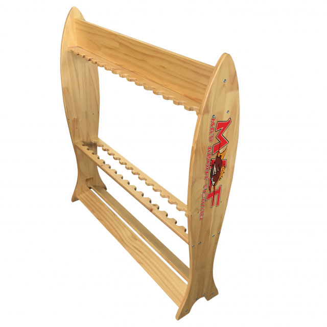 Wooden Fishing Rod Rack - Great Gift Idea