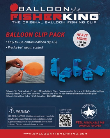 Balloon Fisher King Heavy Mono Balloon Clips
