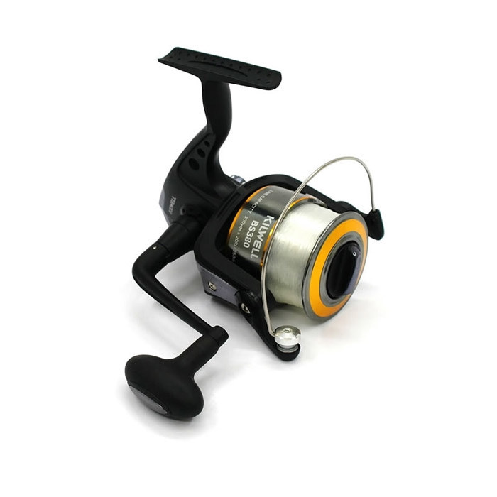 Kilwell Black Shadow 380 3BB Surf Reel Spooled
