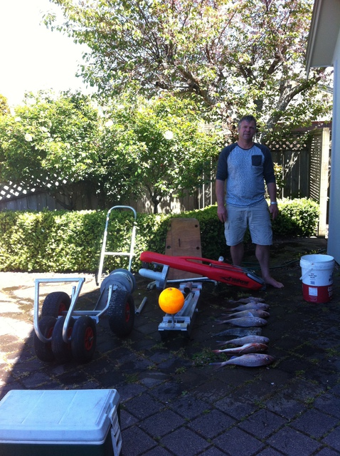 Richard with a great haul using his PFS ShoreThing and Seahorse Kontiki combination