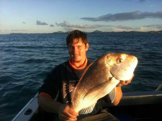 Morgan Barnes Tutukaka snapper catch