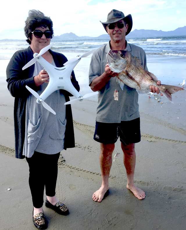 drone fishing snapper catch East Coast New Zealand