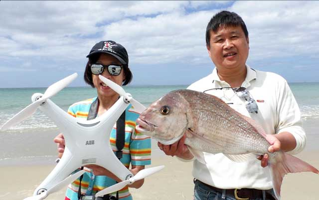 drone fishing east coast snapper catch