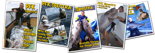 Spectra fishing line, no fillers
